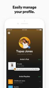 app de spotify for artist