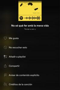 créditos de Spotify