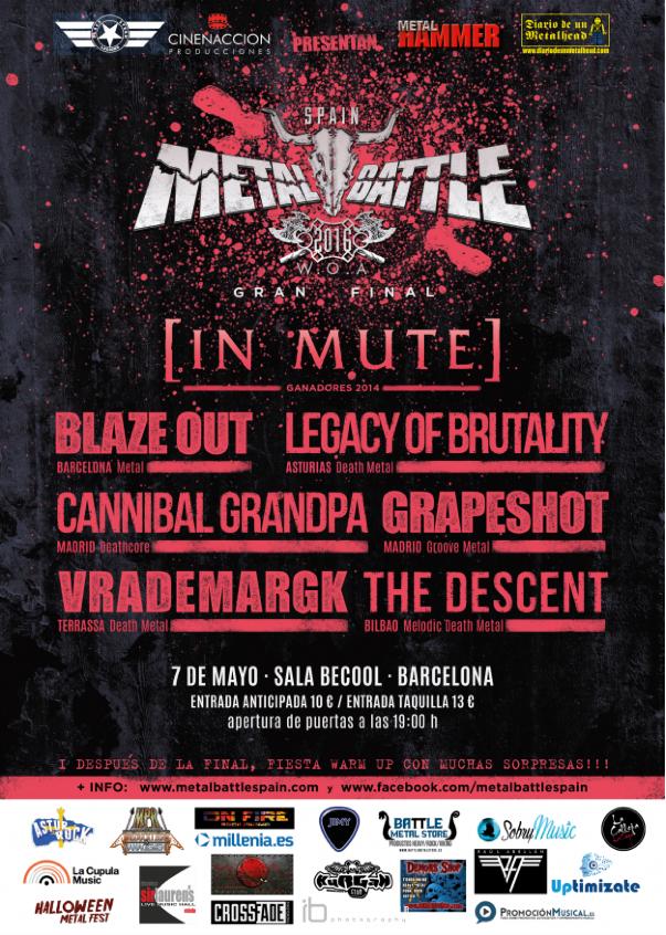 cartel Metal Battle Barcelona 2016