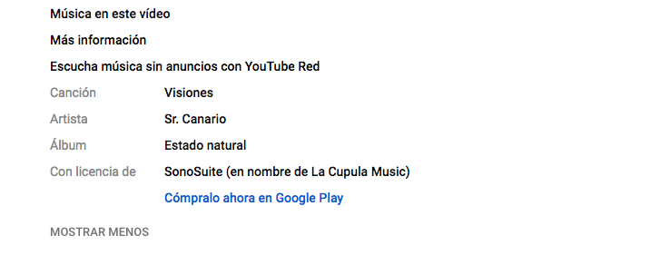 Youtube creditos
